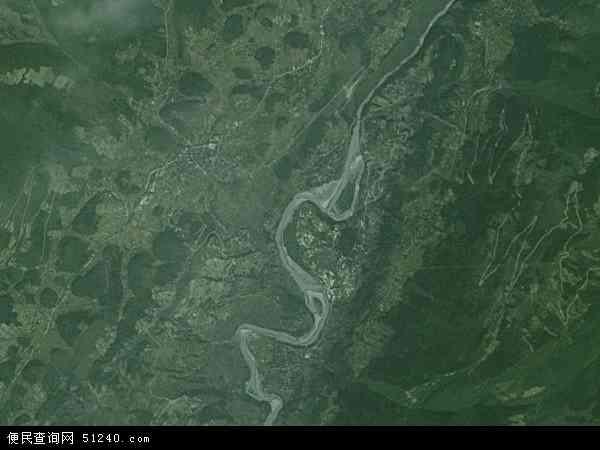 中国重庆市彭水苗族土家族自治县普子镇地图(卫星地图)