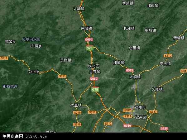 钦北区地图 - 钦北区卫星地图 - 钦北区高清航拍