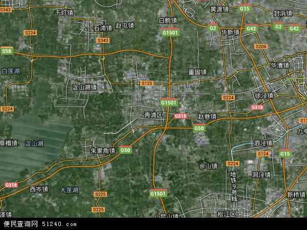 青浦区地图 - 青浦区卫星地图
