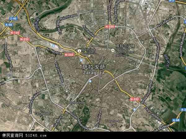 萨拉戈萨卫星地图 - 萨拉戈萨高清卫星地图 - 萨拉戈萨高清航拍地图