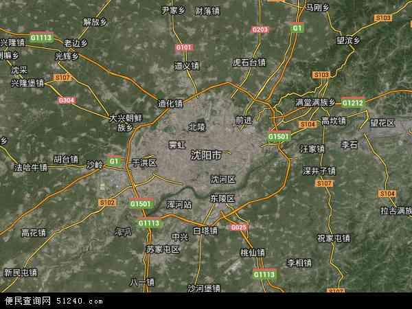 沈阳市地图 沈阳市卫星地图 沈阳市高清航拍地图 沈阳市高清卫星地图