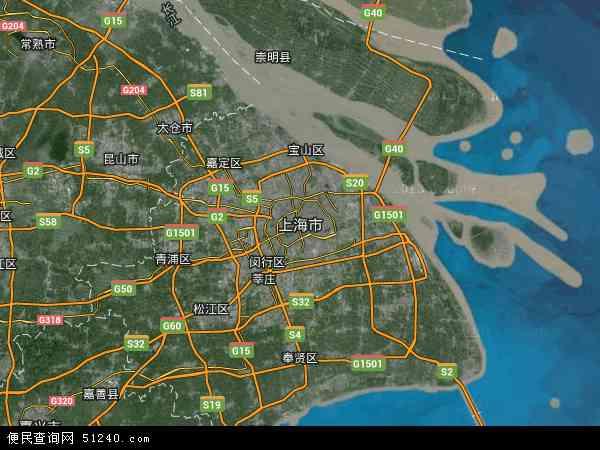 上海市高清卫星地图