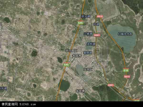 2015年萨尔图区高清卫星地图