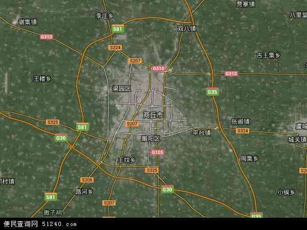 中国河南省商丘市地图 卫星地图 -商丘市地图 商丘市卫星地图 商丘市