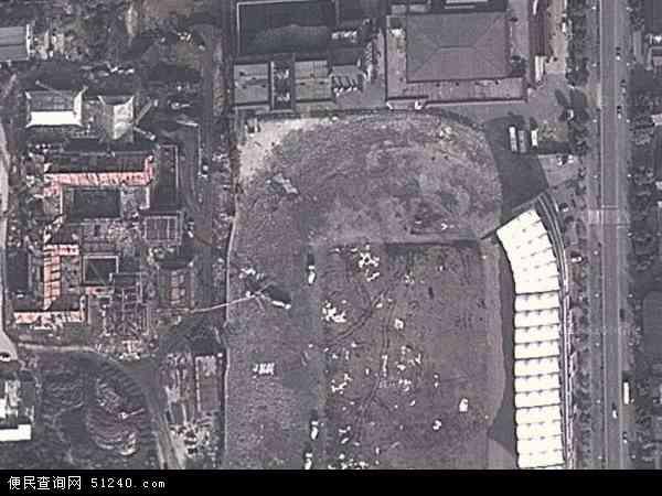 中国江苏省扬州市邗江区瘦西湖地图(卫星地图)