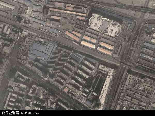 区巴音郭楞蒙古自治州库尔勒市天山地图(卫星地图)