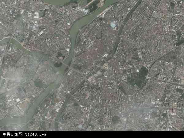 中国广东省东莞市万江地图(卫星地图)