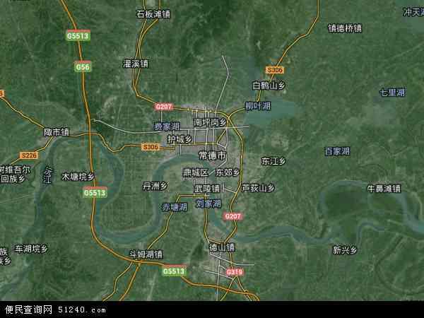 武陵区地图 - 武陵区卫星地图