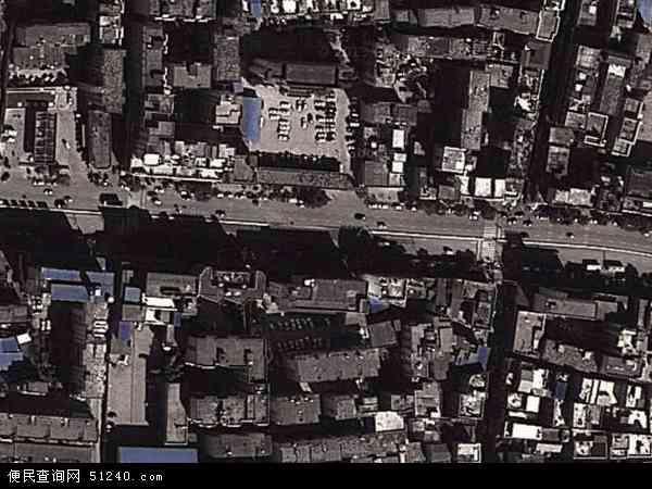 中国贵州省安顺市西秀区西街地图(卫星地图)