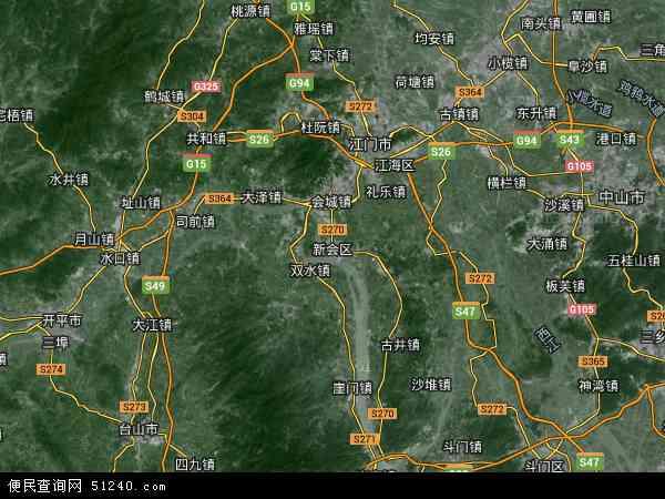 新会区地图 新会区卫星地图 新会区高清航拍地图 新会区高清卫星地图 图片