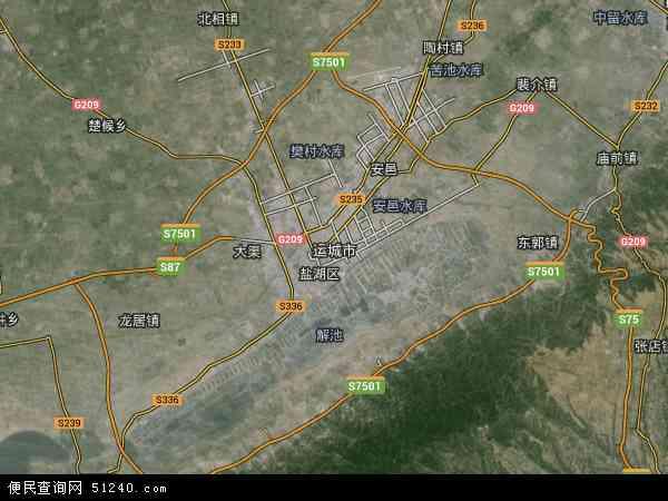 中国山西省运城市地图(卫星地图)