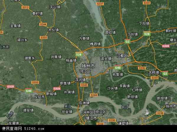 扬州市高清航拍地图