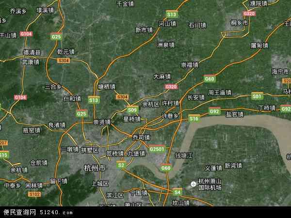 余杭区卫星地图 - 余杭区高清卫星地图 - 余杭区高清航拍地图 - 2018