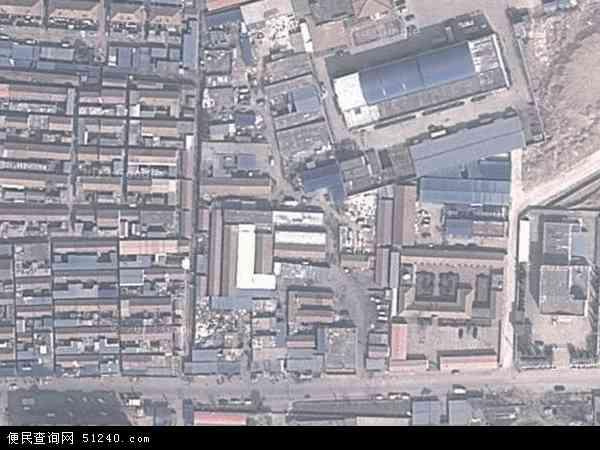 中国山东省青岛市崂山区中韩地图(卫星地图)