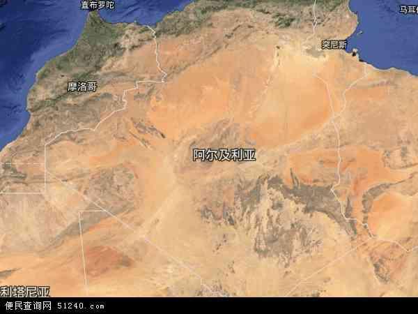 阿尔及利亚卫星地图