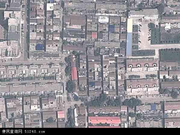 中国河南省商丘市梁园区白云地图(卫星地图)图片