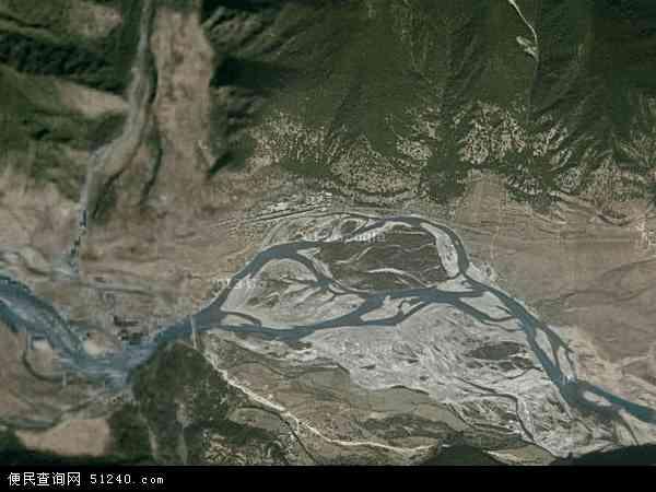 中国西藏自治区林芝地区林芝县百巴镇地图(卫星地图)