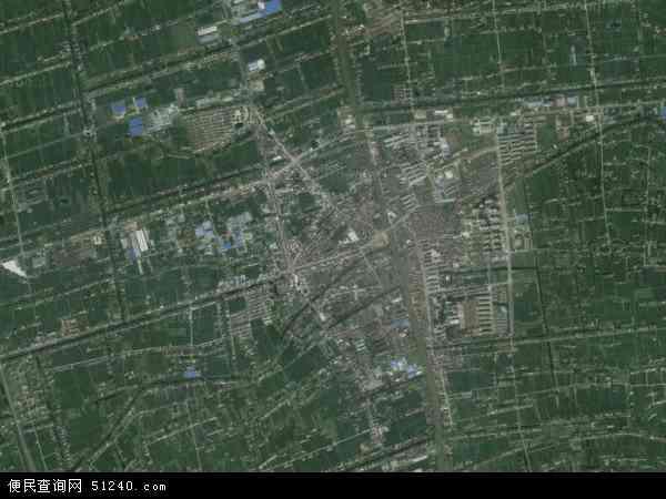 白蒲镇地图 - 白蒲镇卫星地图