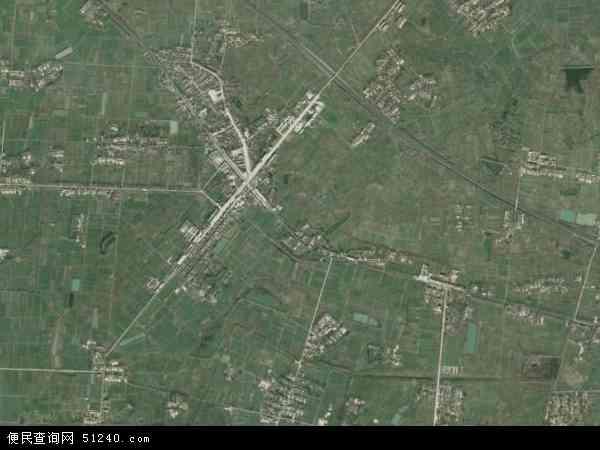 中国江苏省淮安市盱眙县鲍集镇地图(卫星地图)