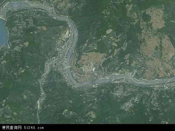 中国甘肃省陇南市文县碧口镇地图(卫星地图)