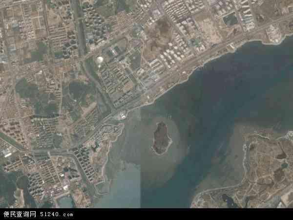 中国山东省青岛市黄岛区滨海地图(卫星地图)