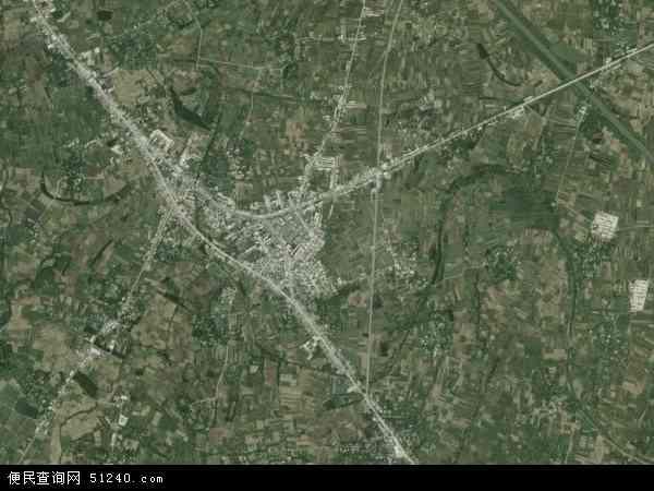 中国安徽省淮南市田家庵区曹庵镇地图(卫星地图)
