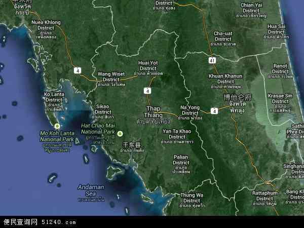 泰国董里地图(卫星地图)