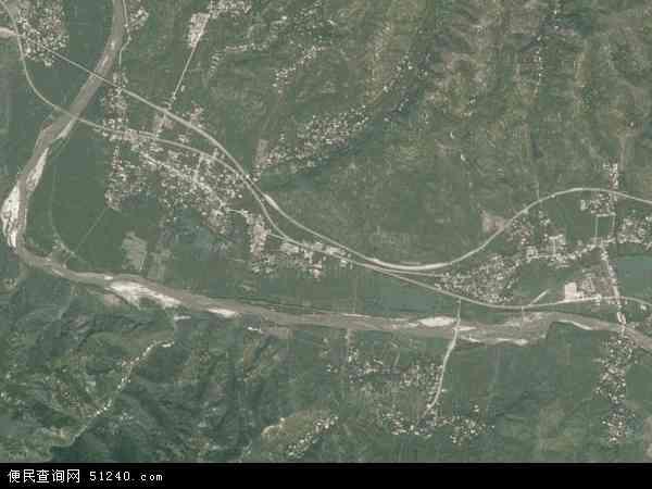 中国陕西省商洛市丹凤县棣花镇地图(卫星地图)