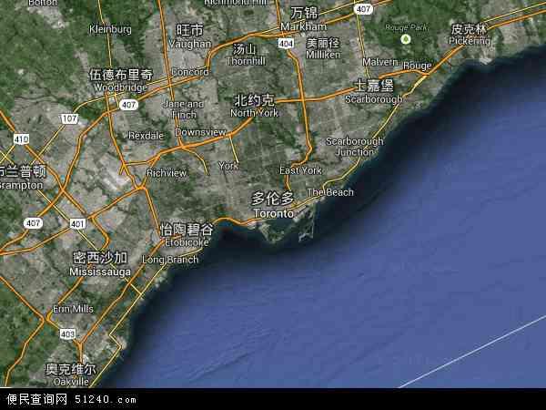 多伦多卫星地图 - 多伦多高清卫星地图 - 多伦多高清航拍地图 - 2017