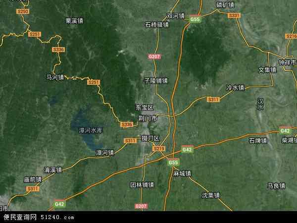 中国湖北省荆门市东宝区地图(卫星地图)