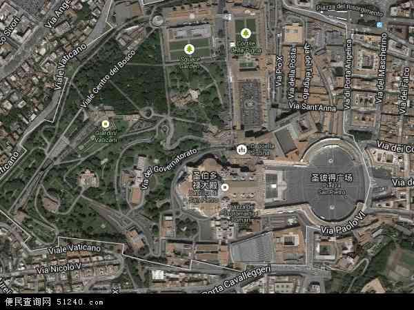 梵蒂冈卫星地图 - 梵蒂冈高清卫星地图 - 梵蒂冈高清航拍地图 - 2017