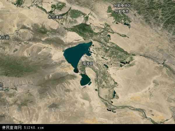 中国新疆维吾尔自治区阿勒泰地区福海县地图