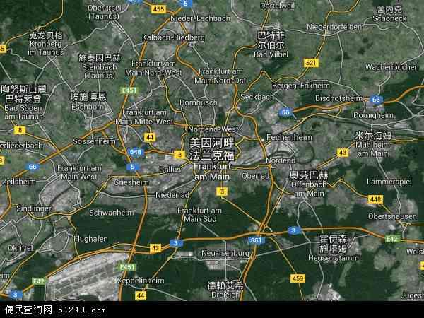 法兰克福高清卫星航拍地图