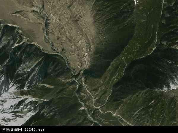 中国西藏自治区林芝地区察隅县古玉乡地图(卫星地图)