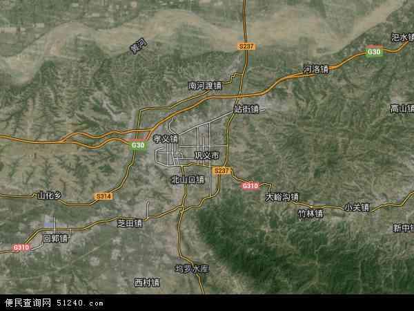 巩义市地图 - 巩义市卫星地图图片