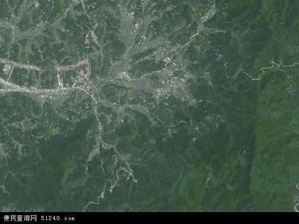 中国安徽省六安市金寨县古碑镇地图(卫星地图)