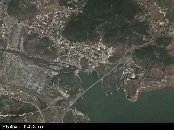 中国云南省昆明市西山区海口地图(卫星地图)
