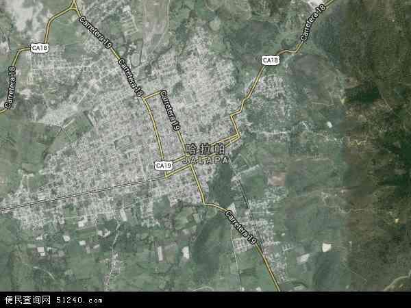 哈拉帕高清卫星地图