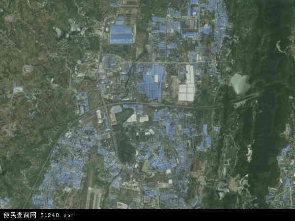 中国重庆市九龙坡区含谷镇地图(卫星地图)
