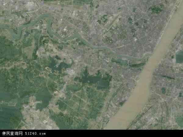 中国湖北省武汉市汉阳区地图(卫星地图)