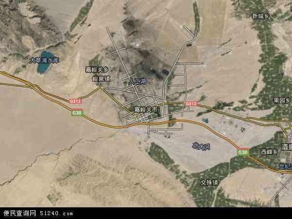 嘉峪关市卫星地图 - 嘉峪关市高清卫星地图 - 嘉峪关市高清航拍地图