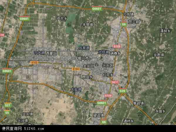 金凤区高清卫星地图