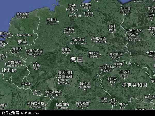 德国科布伦次地图(卫星地图)