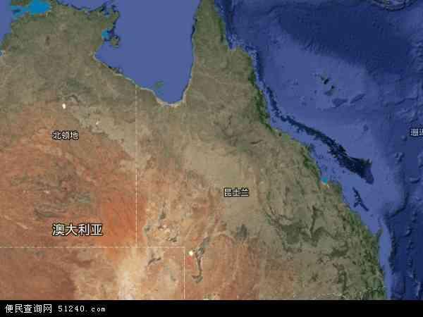 昆士兰卫星地图 - 昆士兰高清卫星地图 - 昆士兰高清航拍地图 - 2017