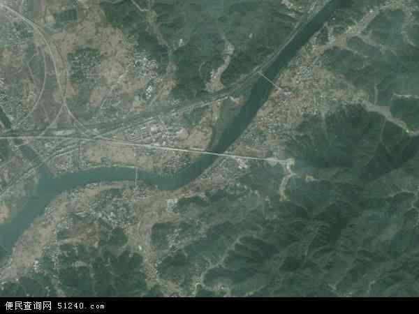 中国江西省上饶市信州区灵溪地图(卫星地图)