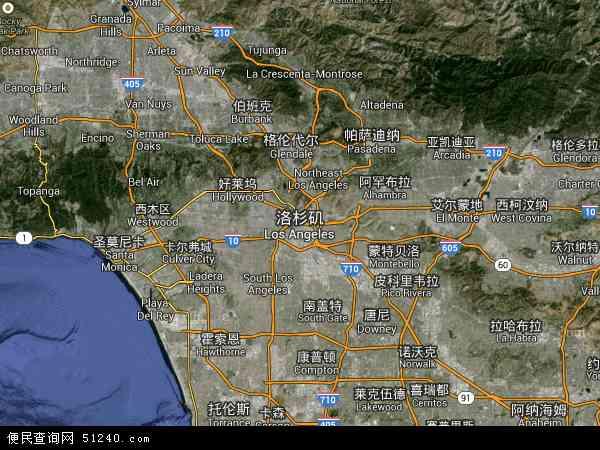 美国高清卫星地图_洛杉矶地图 - 洛杉矶卫星地图 - 洛杉矶高清航拍地图