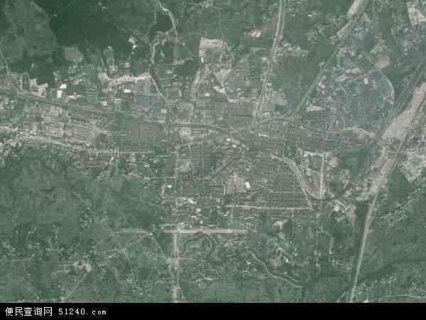 中国广西壮族自治区柳州市柳江县拉堡镇地图(卫星
