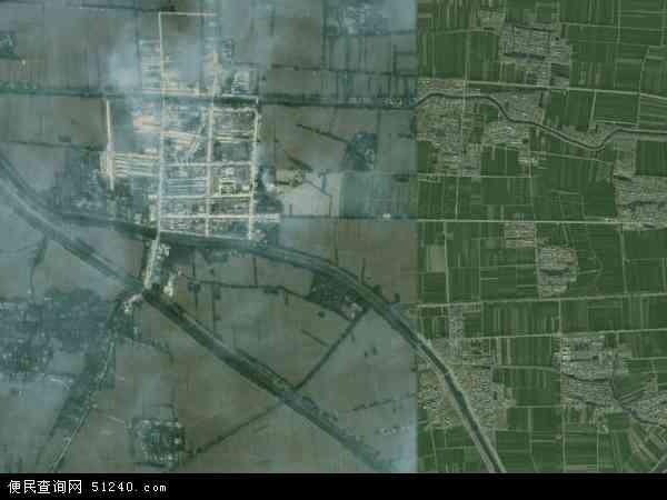 中国安徽省宿州市泗县刘圩镇地图(卫星地图)