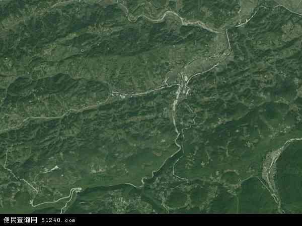 中国湖南省张家界市桑植县汨湖乡地图 卫星地图