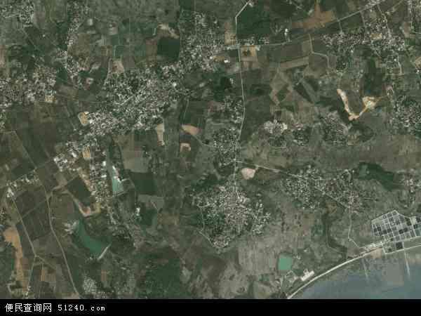 中国广东省湛江市麻章区民安镇地图(卫星地图)